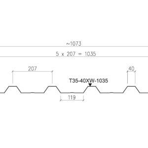 Ruukki T35 trapeziumplaat dak details