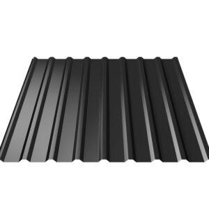 Trapezium profielplaten T20 RR33 zwart SDS Ommen